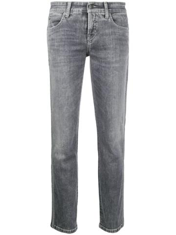 Cambio Side Tape Jeans - Grey