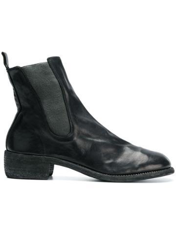 Guidi Chunky Heel Chelsea Boots - Black