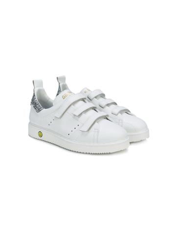 Golden Goose Deluxe Brand Kids Teen Touch Strap Sneakers - White