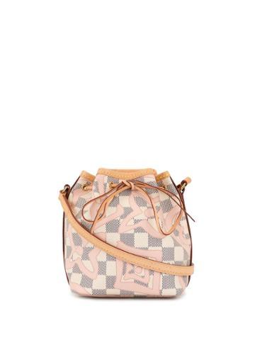 Louis Vuitton Pre-owned Nano Noe Drawstring Shoulder Bag - White