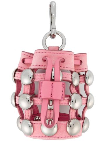Alexander Wang Mini Roxy Charm, Women's, Pink/purple, Leather/metal