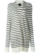 Rta Striped Open Cardigan