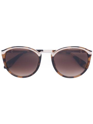 Carolina Herrera Tortoise Shell Round Sunglasses - Brown