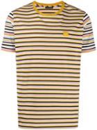 Acne Studios Striped Nash Face T-shirt - Yellow