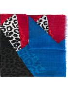 Saint Laurent Colour Block Scarf, Men's, Wool