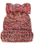Federica Moretti Knitted Bow Hat - Multicolour