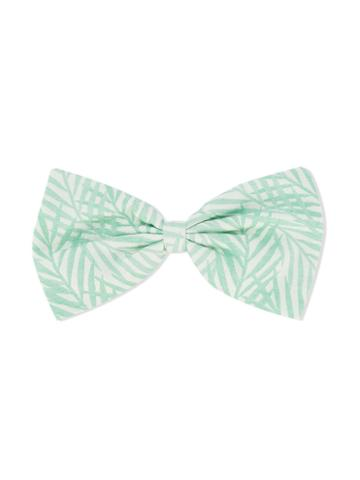 Hucklebones London - Giant Bow Hairclip - Kids - Cotton/polyester - One Size, Green
