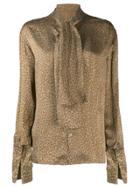 Céline Pre-owned 1980/1990's Leopard Print Blouse - Brown