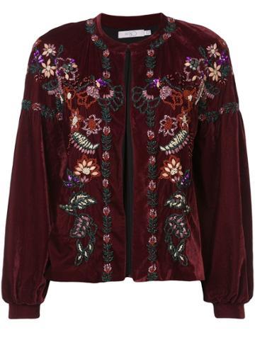 Patbo Bead-embellished Velvet Jacket - Red