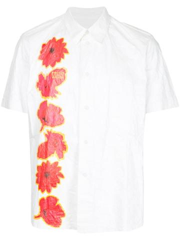 Walter Van Beirendonck Vintage Paper Flower Print Shirt - White