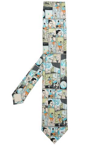 Prada Comic Strip Tie - Multicolour