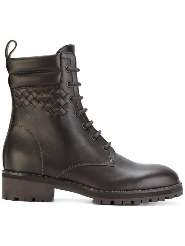 Bottega Veneta Lace-up Boots - Brown