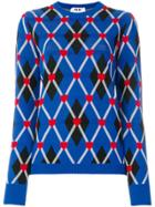 Msgm Patterned Sweater - Blue
