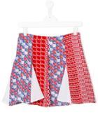 Kenzo Kids Patchwork Skirt - Red