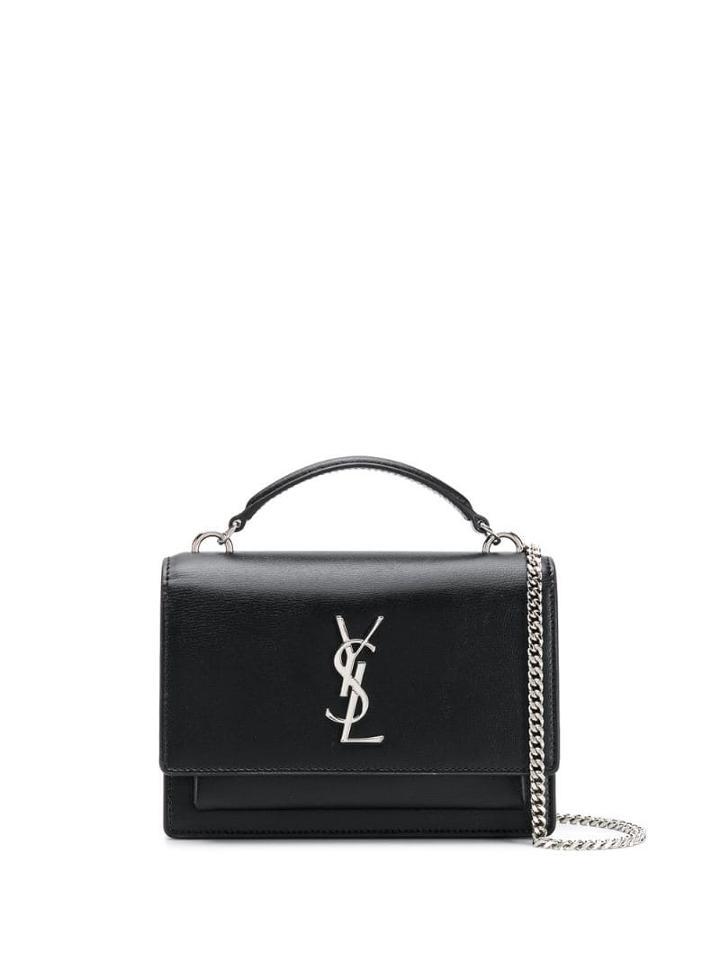 Saint Laurent Ysl Sunset Mono Crossbody Bag - Black