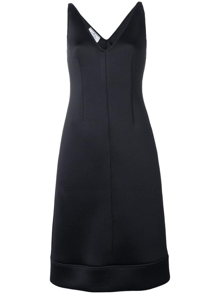 Prada V-neck Dress - Black