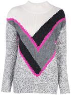 Autumn Cashmere Panelled Cashmere Jumper - Grey