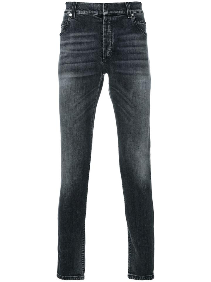 Balmain Distressed Jeans - Grey
