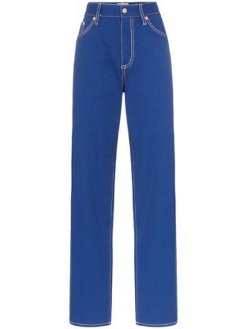 Eytys Benz High Waisted Boyfriends Jeans - Blue