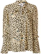 Vivetta Leopard Print Blouse - Brown