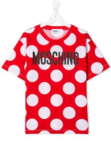 Moschino Kids Teen Polka Dot T-shirt - Red