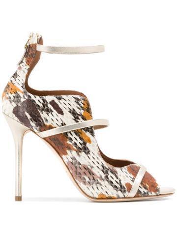 Malone Souliers Textured Stiletto Sandals - Neutrals