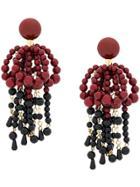 Marni Hanging Beaded Earrings - Red