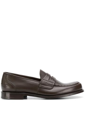 Church's T-bar Strap Loafers - Brown