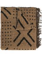 Uma Wang Patterned Scarf - Brown