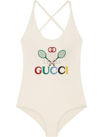 Gucci Gucci Tennis Swimsuit - White