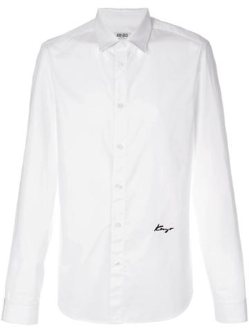 Kenzo - Kenzo Signature Shirt - Men - Cotton/polyester - 44, White, Cotton/polyester
