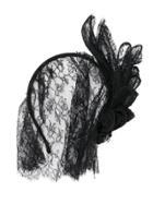 Maison Michel Lace Veil Headband - Black