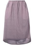 Caramel Gathered Checked Skirt