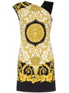 Versace Baroque Sleeveless Printed Mini Dress - Black