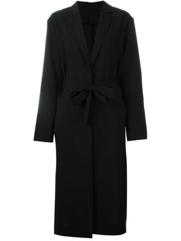 Msgm Long Robe Coat - Black