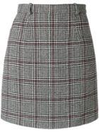 Carven Check Mini Skirt - Grey