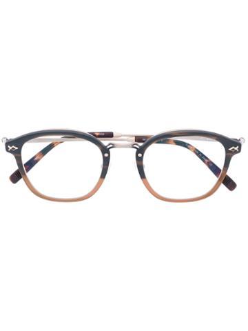 Matsuda - Rounded Glasses - Unisex - Acetate/metal - 48, Brown, Acetate/metal