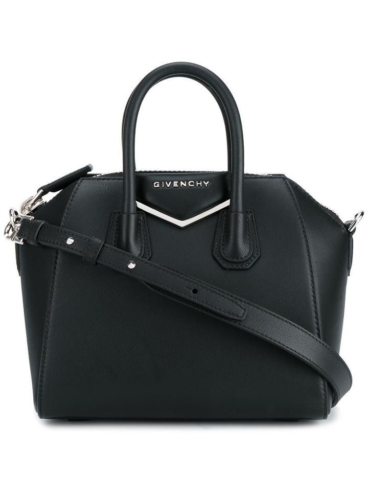 Givenchy Mini Antigona Shoulder Bag, Women's, Black, Calf Leather/cotton