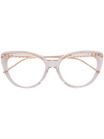 Boucheron Cat Eye Glasses - White