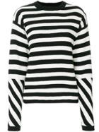 Joseph Stripe Knit Sweater - White
