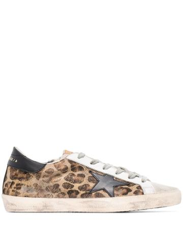 Golden Goose Superstar Leopard Print Sneakers - Brown