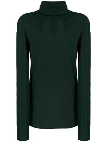 Boon The Shop Roll Neck Longline Sweater - Green