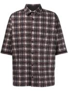 Aganovich Plaid Shirt - Black