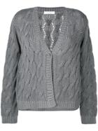 Cruciani Cable Knit Cardigan - Grey