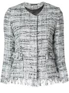 Tagliatore Cropped Tweed Jacket - Multicolour