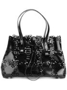 Simone Rocha - Perforated Trim Tote Bag - Women - Leather - One Size, Black, Leather