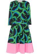 Marni Printed Midi-dress - Green