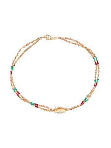 Isabel Marant Beaded Shell Necklace - Neutrals