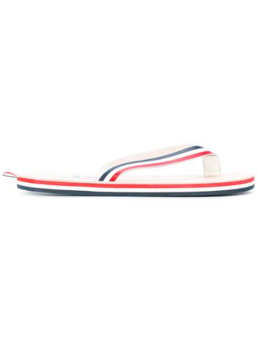 Thom Browne Red, White And Blue Stripe Sandal With Red, White And Blue