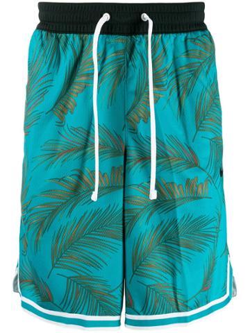 Nike Palm Tree Print Track Shorts - Green